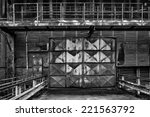 factory gate to the foundry in... | Shutterstock . vector #221563792