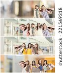 asian woman shopping ... | Shutterstock . vector #221569318