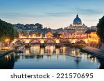 Night Image Of River Tiber ...