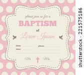 Baptism Invitation  Template....