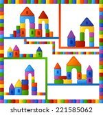 childish seamless pattern with... | Shutterstock .eps vector #221585062