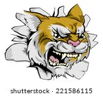 wildcat sports mascot... | Shutterstock .eps vector #221586115