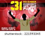 party poster  vector... | Shutterstock .eps vector #221593345