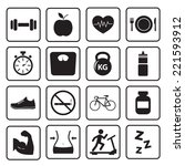 health and fitness icon | Shutterstock .eps vector #221593912