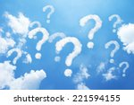 a lot of question mark clouds... | Shutterstock . vector #221594155