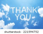 """thank you"" a cloud word on sky 