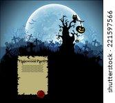 halloween background | Shutterstock .eps vector #221597566