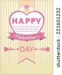 valentine's day poster  card.... | Shutterstock .eps vector #221601232