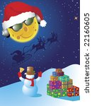 christmas greeting card with... | Shutterstock .eps vector #22160605