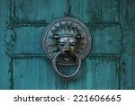 Old Door Handle In The Form Of...
