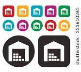 warehouse icon . stock icon   Shutterstock .eps vector #221610265