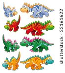 types of dinosaurs. funny... | Shutterstock .eps vector #22161622