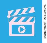 film maker clapper board  icon. ... | Shutterstock .eps vector #221626996