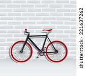 vector fixed gear bicycle with... | Shutterstock .eps vector #221637262