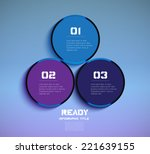 three steps of vector progress... | Shutterstock .eps vector #221639155