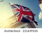 flag of uk on government... | Shutterstock . vector #221639326