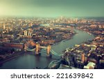 london aerial view with  tower... | Shutterstock . vector #221639842