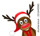 Christmas Reindeer On A White...
