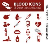 blood icons | Shutterstock .eps vector #221663788