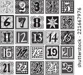 achromatic advent calendar... | Shutterstock .eps vector #221667976