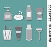 bathrooms appliances   Shutterstock .eps vector #221668102