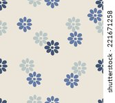 Seamless Pattern. Flower....