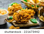 Crispy Onion Bhajis With Cream...