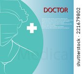 doctor background vector design | Shutterstock .eps vector #221679802
