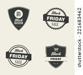 abstract black friday labels on ... | Shutterstock .eps vector #221683462