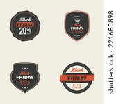 abstract black friday labels on ... | Shutterstock .eps vector #221685898