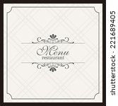 abstract menu background with... | Shutterstock .eps vector #221689405