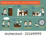 the story of businessman... | Shutterstock .eps vector #221690995