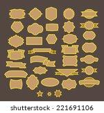 vector set vintage labels | Shutterstock .eps vector #221691106