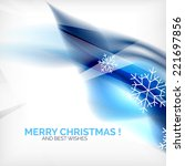blue color christmas blurred... | Shutterstock .eps vector #221697856