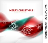 red color christmas blurred...   Shutterstock .eps vector #221697895