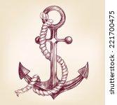 anchor  hand drawn vector... | Shutterstock .eps vector #221700475