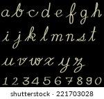 alphabet | Shutterstock . vector #221703028