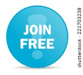 join free internet icon  | Shutterstock . vector #221703238