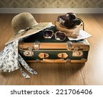 Vintage Traveler Suitcase With...