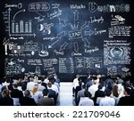 business people in a leadership ... | Shutterstock . vector #221709046