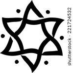 star of david  hexagram  israel ... | Shutterstock .eps vector #221724532