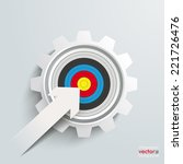 white paper arrow with red aim... | Shutterstock .eps vector #221726476
