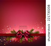 christmas background with red... | Shutterstock .eps vector #221730208