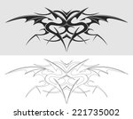 dragon tattoo silhouette.  | Shutterstock .eps vector #221735002