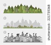 vector concept   ecology | Shutterstock .eps vector #221735368