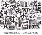 travel doodle | Shutterstock . vector #221737585