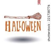 halloween text. vector...   Shutterstock .eps vector #221738776