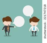 businessmen discussing.vector... | Shutterstock .eps vector #221747218