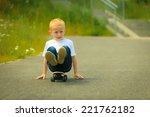 active childhood. little man... | Shutterstock . vector #221762182
