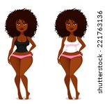 cute and sexy african american... | Shutterstock .eps vector #221763136